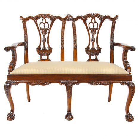 Chippendale Two Seat Chair :: NLR034