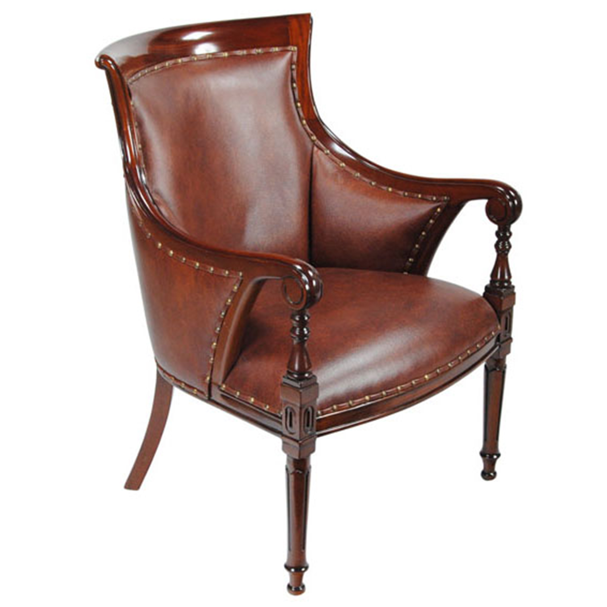 Leather Regency Chair Niagara Furniture Genuine Leather