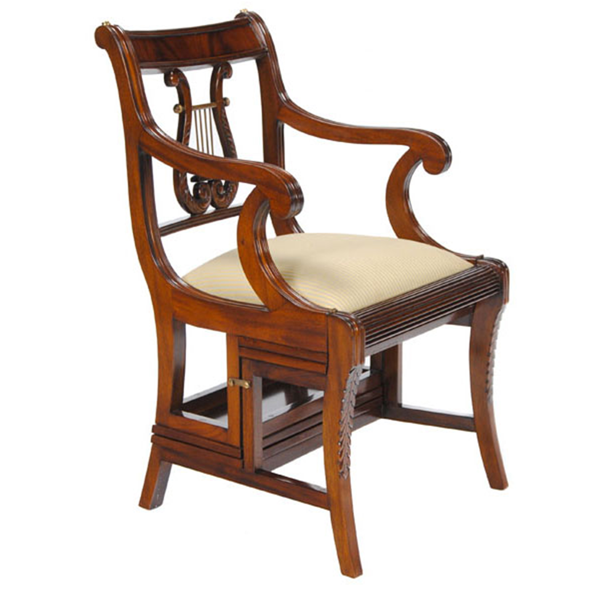 home furniture living room mahogany library chair nlr068