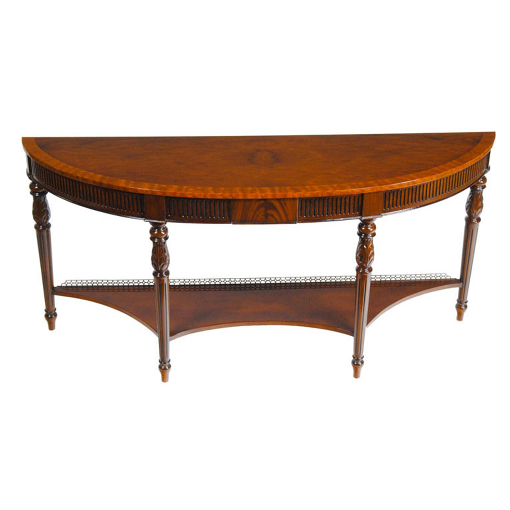 Mahogany Console With Brass Gallery Niagara Furniture