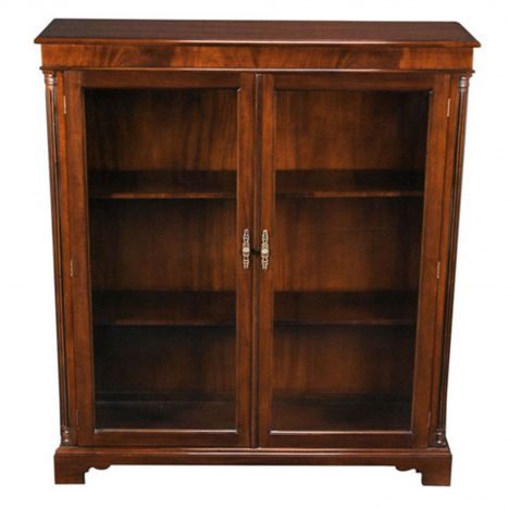 Mahogany Two Door Bookcase :: NOF014
