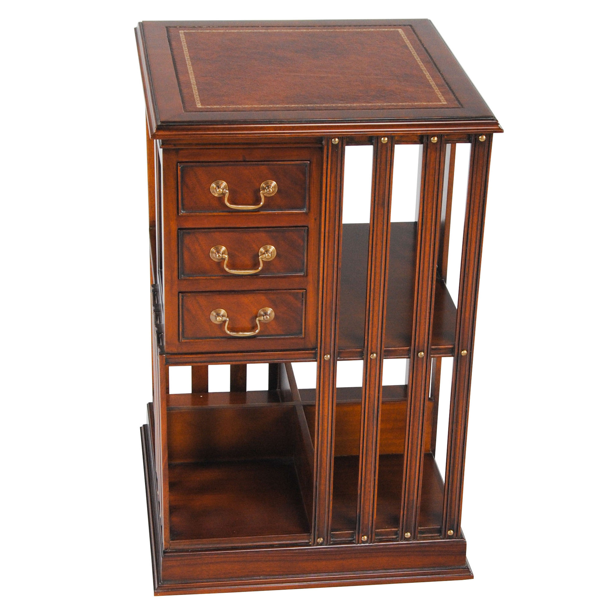 Leather Top Revolving Bookcase Nof046l