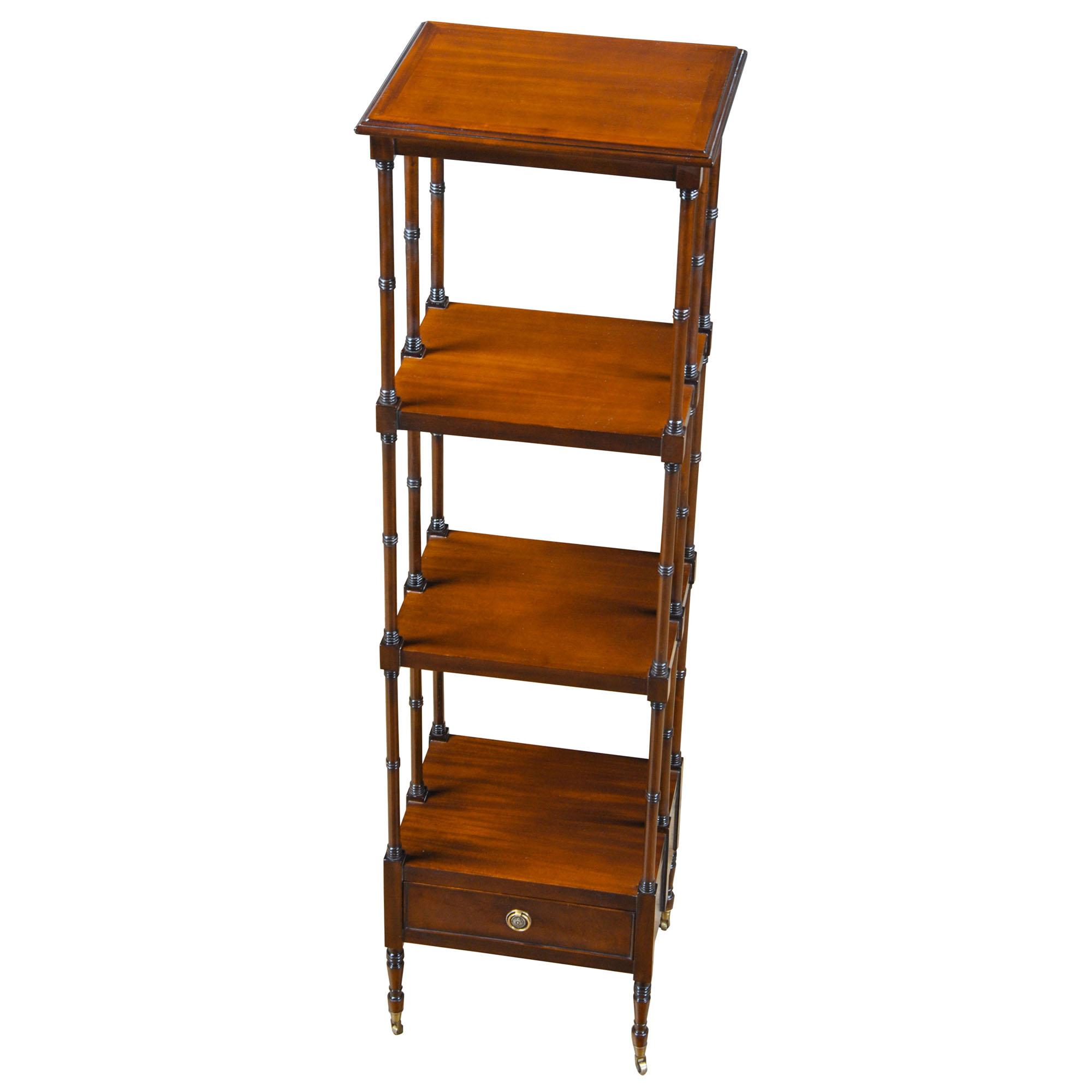 Book Furniture: Mahogany Book Shelf, Niagara Furniture, Solid Brass Wheels