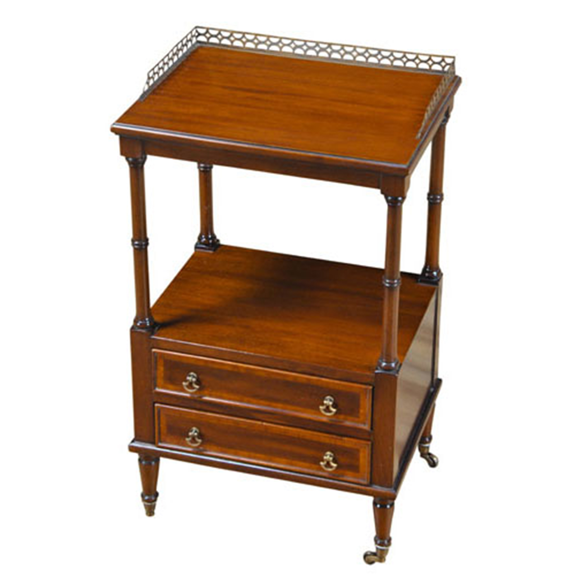 Two drawer end table mahogany two drawer end table for End tables with drawers