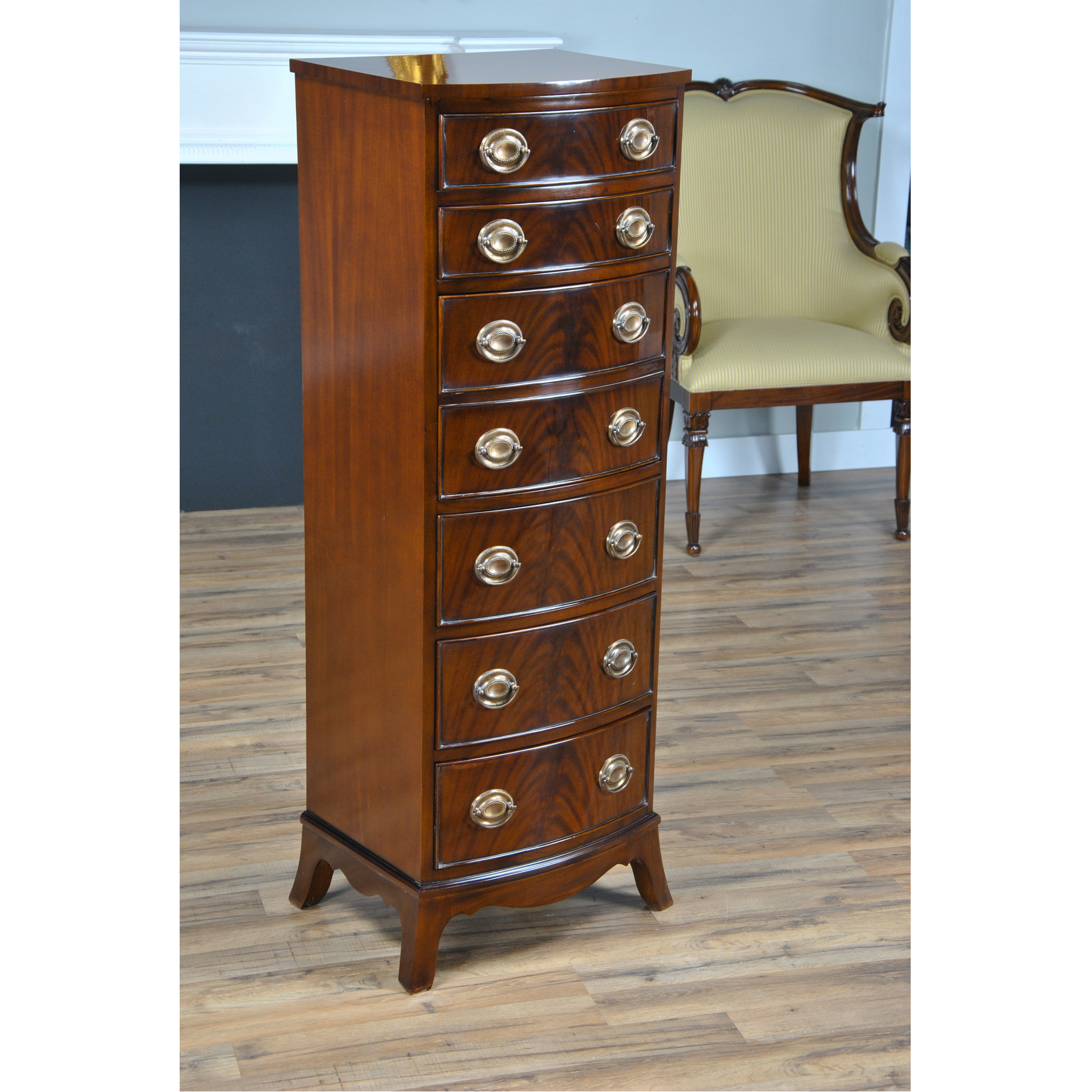 cherry the louis with hidden drawer products drawers brown mayville homelegance burnish dresser finish lingerie manburg in chest philippe