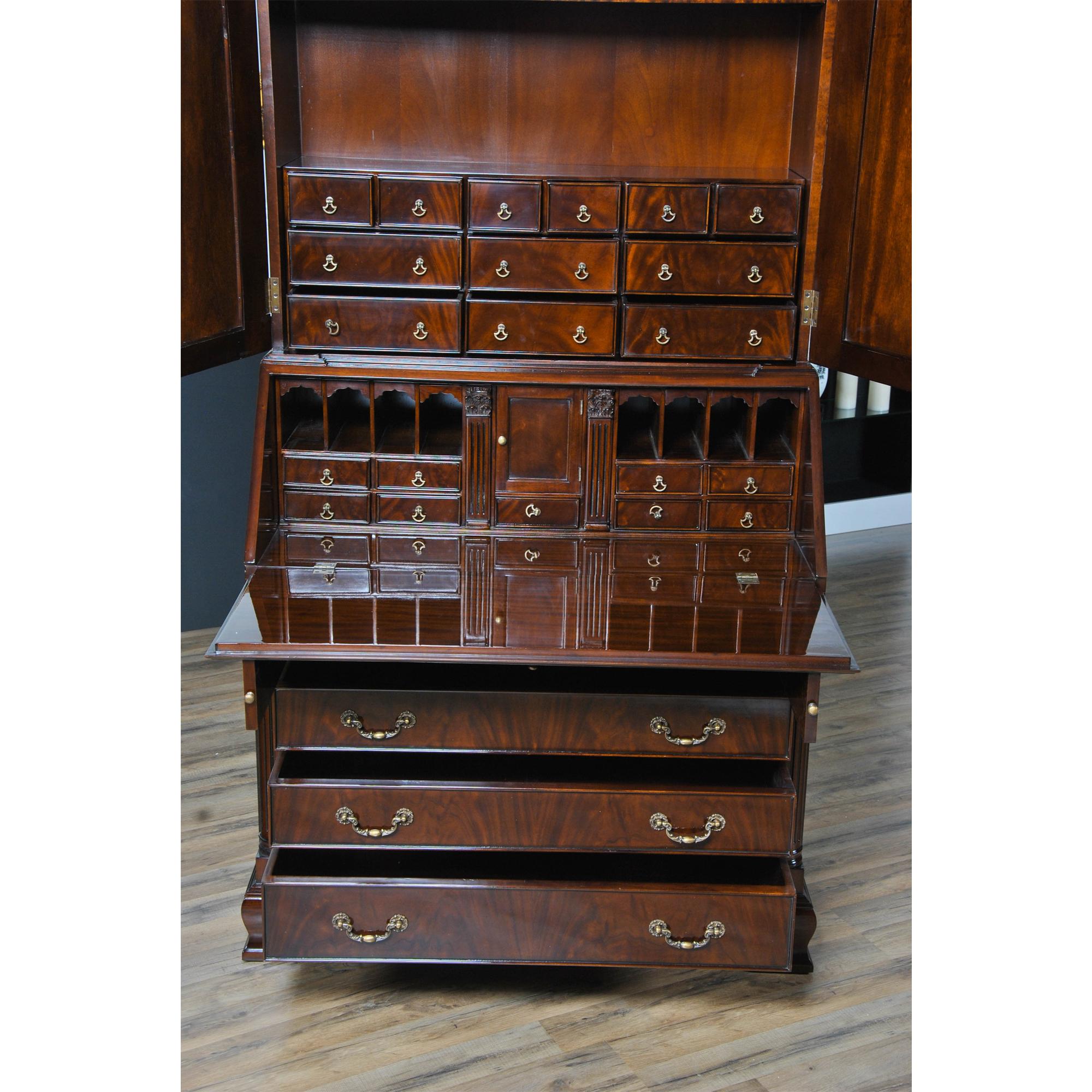 Large Mahogany Secretary Desk Niagara Furniture