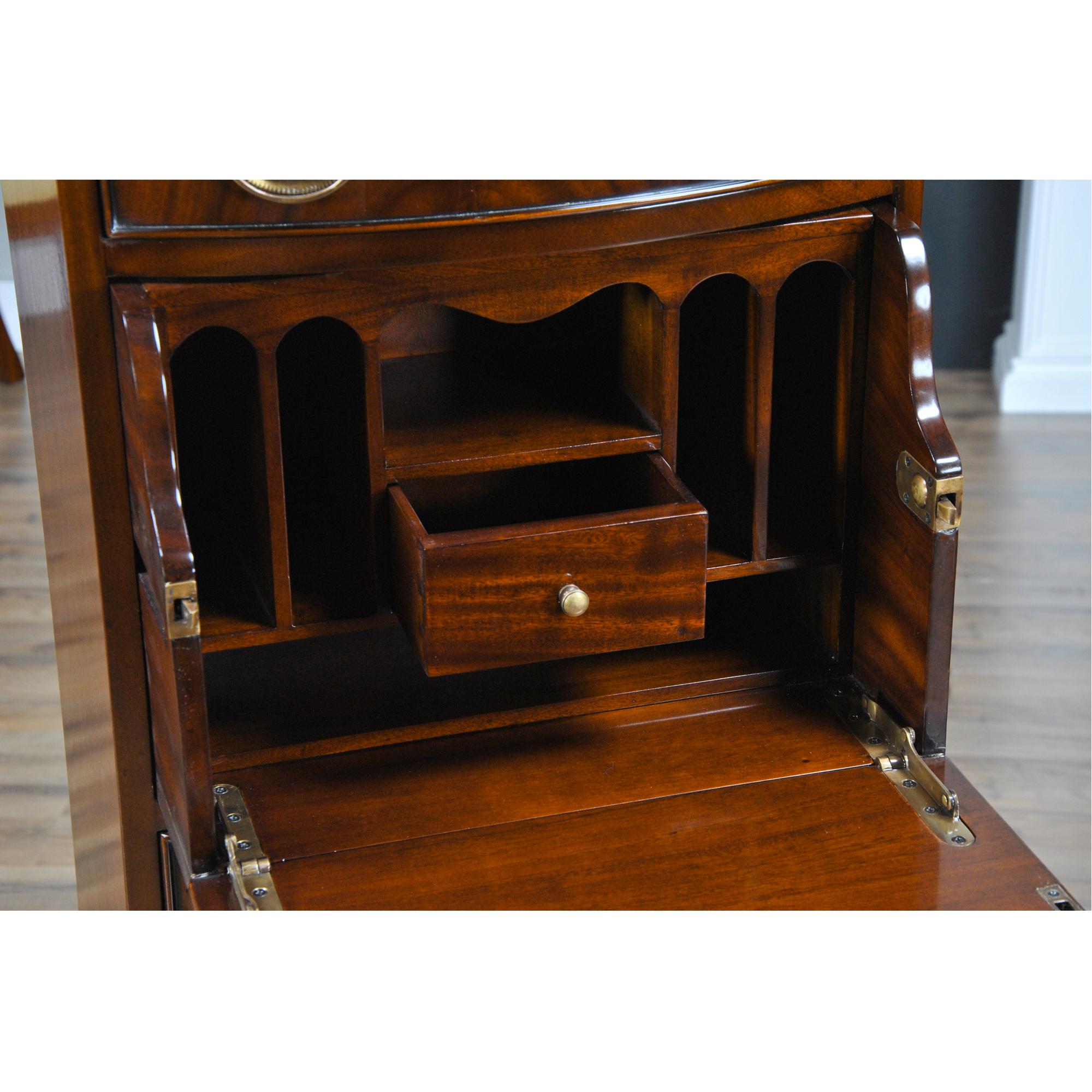 Do It Yourself Home Design: Hidden Drawer Desk, Niagara Furniture, Mahogany Desk