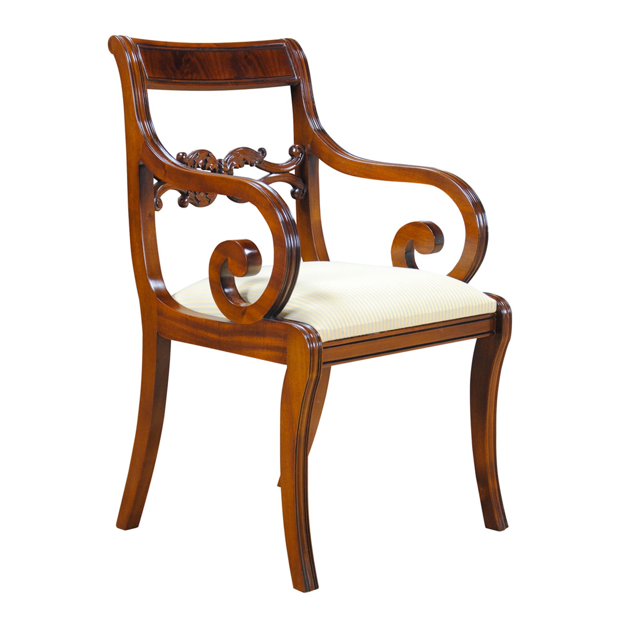 Merveilleux Philadelphia Empire Chairs, Set Of 10 :: NDRAC014Z