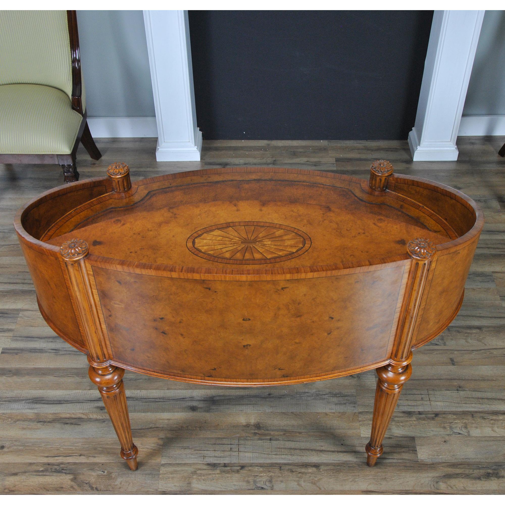 Sterling Oval Desk Niagara Furniture Leather Top Desk
