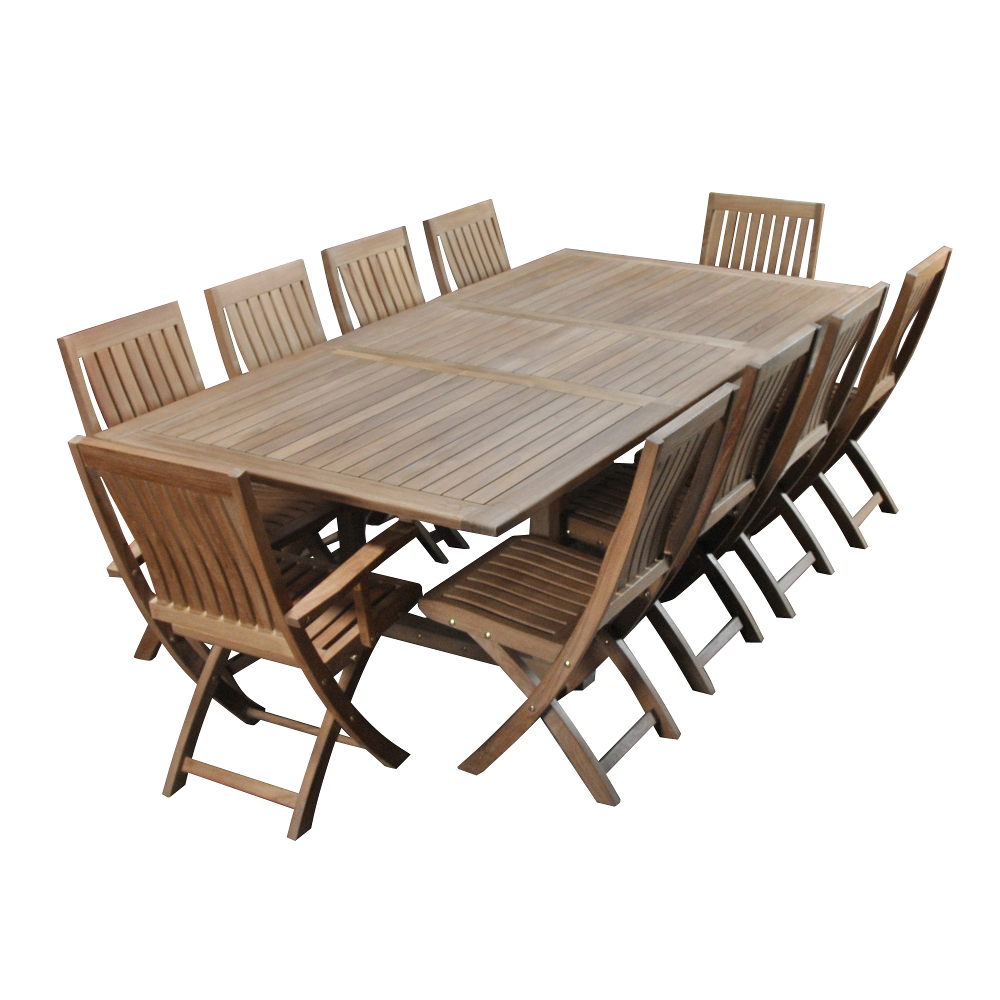 Teak Dining Table And Ten Chairs