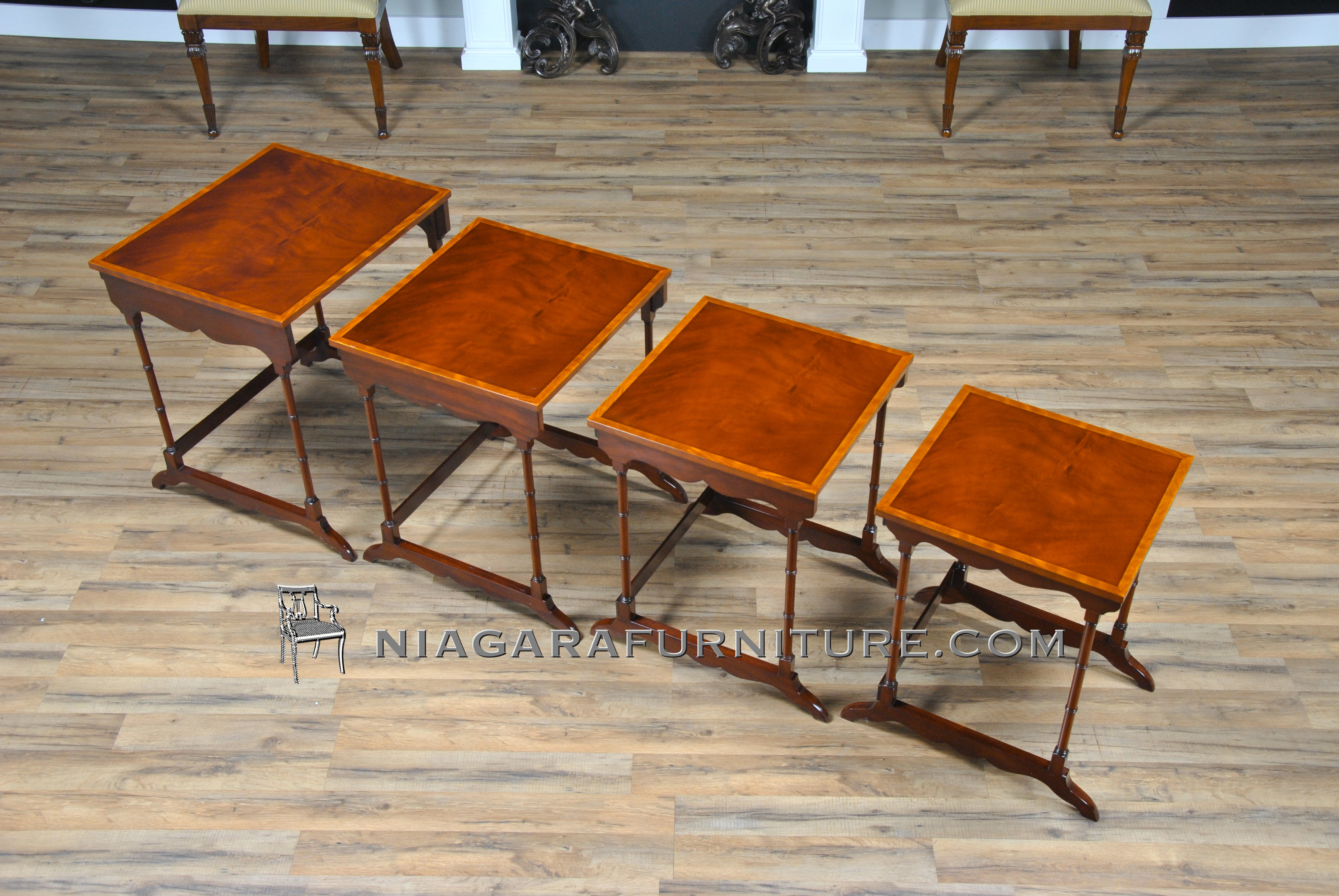 Wonderful image of Large Mahogany Nesting Tables Niagara Furniture with #B14600 color and 3872x2592 pixels