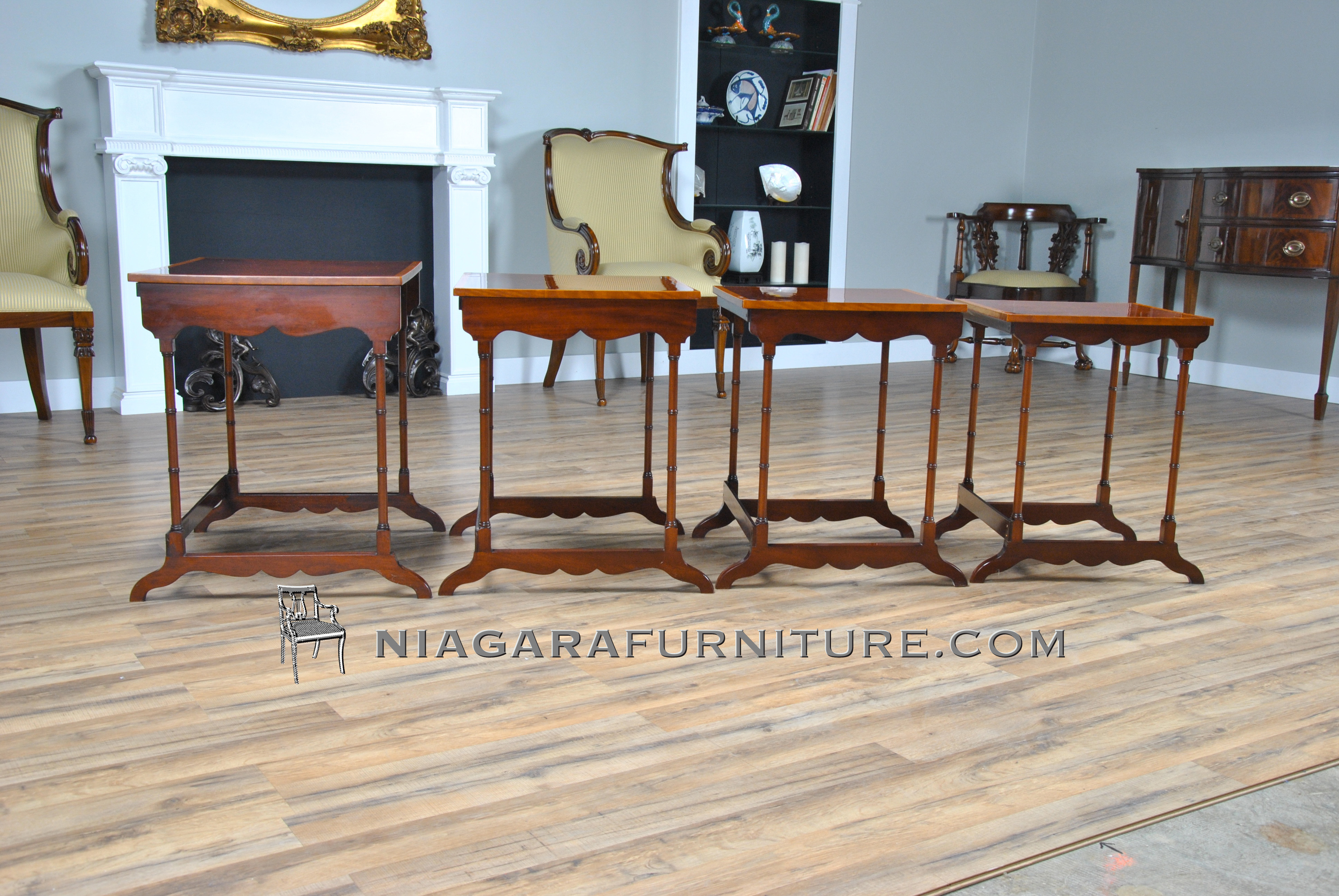 Wonderful image of Large Mahogany Nesting Tables Niagara Furniture with #6D3E25 color and 3872x2592 pixels